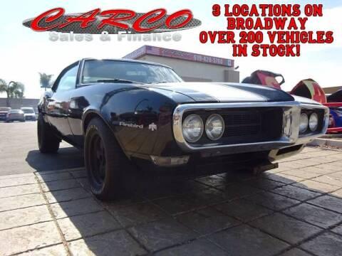 1968 Pontiac Firebird for sale at CARCO SALES & FINANCE #3 in Chula Vista CA