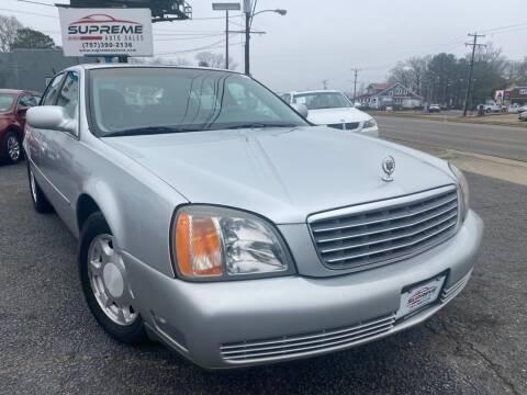 2001 Cadillac DeVille for sale at Supreme Auto Sales in Chesapeake VA