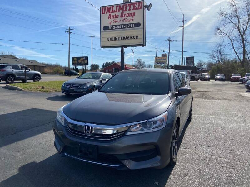 2016 Honda Accord for sale at Unlimited Auto Group in West Chester OH