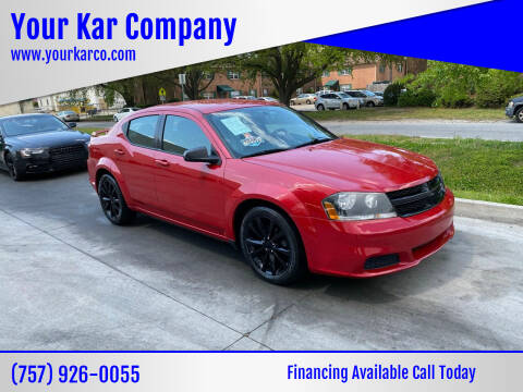 2014 Dodge Avenger for sale at Your Kar Company in Norfolk VA