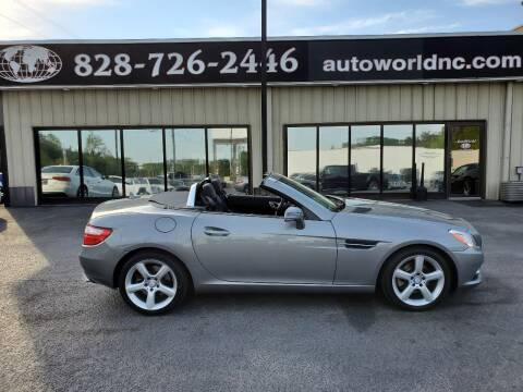 2012 Mercedes-Benz SLK for sale at AutoWorld of Lenoir in Lenoir NC