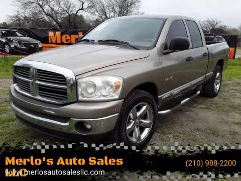 2008 Dodge Ram Pickup 1500 for sale at Merlo's Auto Sales LLC in San Antonio TX