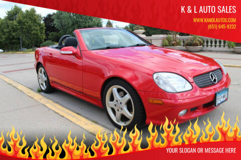 2002 Mercedes-Benz SLK for sale at K & L Auto Sales in Saint Paul MN