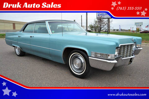 1969 Cadillac DeVille for sale at Druk Auto Sales in Ramsey MN