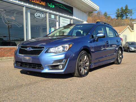 2015 Subaru Impreza for sale at Green Cars Vermont in Montpelier VT
