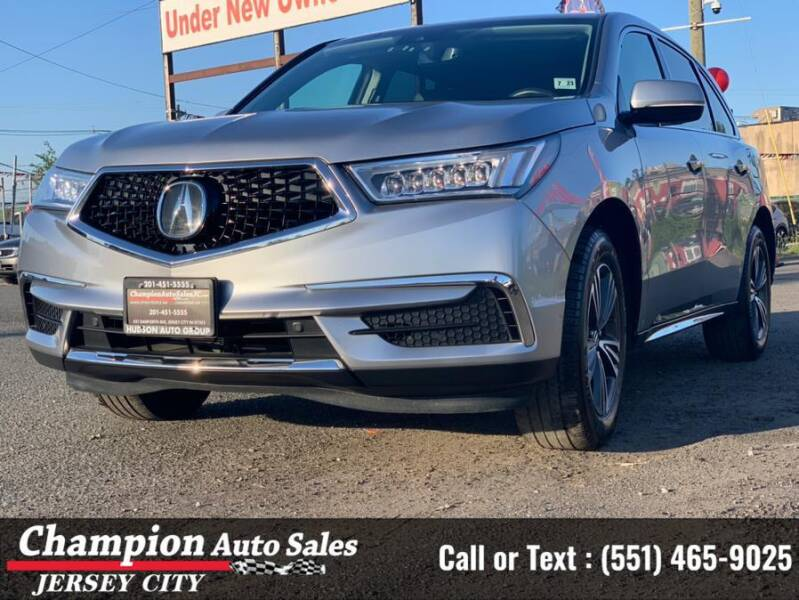 2018 Acura MDX for sale at CHAMPION AUTO SALES OF JERSEY CITY in Jersey City NJ