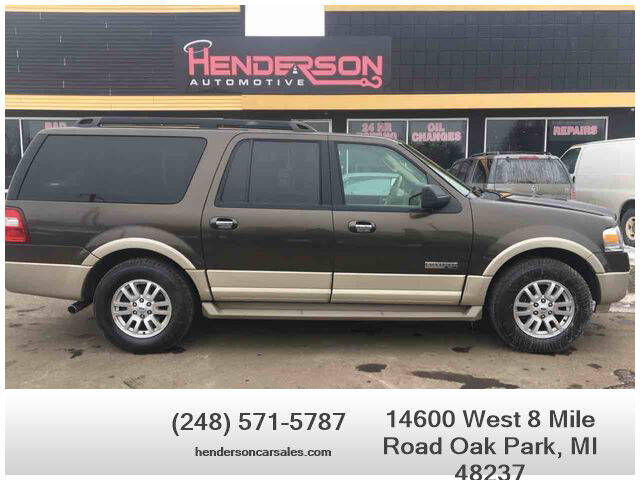 2008 Ford Expedition EL for sale at Henderson Automotive, LLC in Oak Park MI