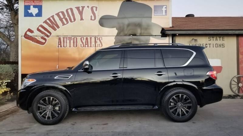 2019 Nissan Armada for sale at Cowboy's Auto Sales in San Antonio TX
