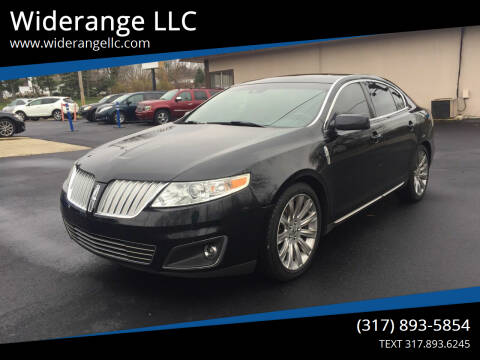 2012 Lincoln MKS for sale at Widerange LLC in Greenwood IN
