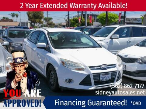 2012 Ford Focus for sale at Sidney Auto Sales in Downey CA