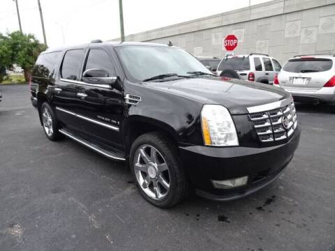 2008 Cadillac Escalade ESV for sale at DONNY MILLS AUTO SALES in Largo FL