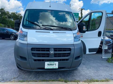 2016 RAM ProMaster Cargo for sale at Murrays Used Cars in Baltimore MD