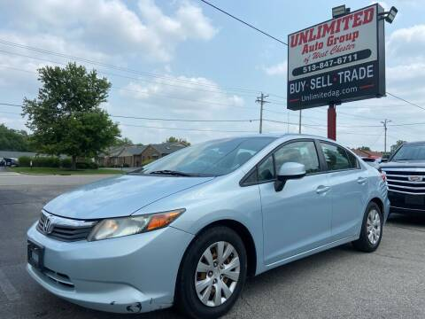 2012 Honda Civic for sale at Unlimited Auto Group in West Chester OH