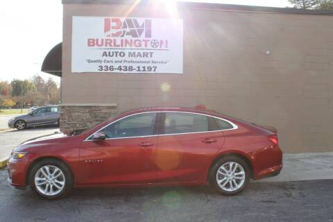2016 Chevrolet Malibu for sale at Burlington Auto Mart in Burlington NC