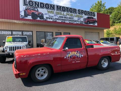 1980 Dodge D150 Pickup for sale at London Motor Sports, LLC in London KY
