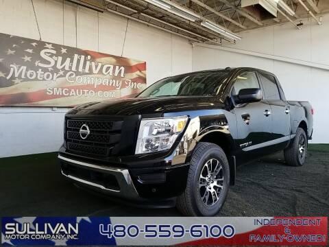 2021 Nissan Titan for sale at SULLIVAN MOTOR COMPANY INC. in Mesa AZ