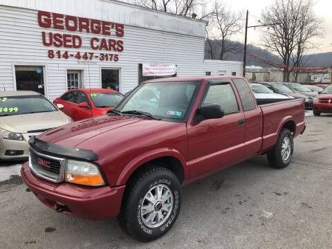 2003 GMC Sonoma for sale at George's Used Cars Inc in Orbisonia PA