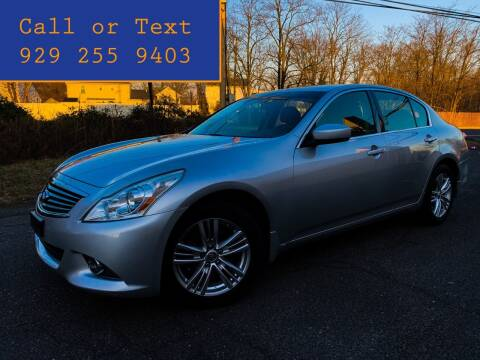 2012 Infiniti G25 Sedan for sale at Ultimate Motors in Port Monmouth NJ