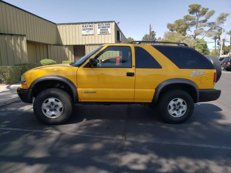 2003 Chevrolet Blazer for sale at RAFIKI MOTORS in Henderson NV
