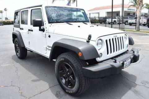 2017 Jeep Wrangler Unlimited for sale at DIAMOND VALLEY HONDA in Hemet CA