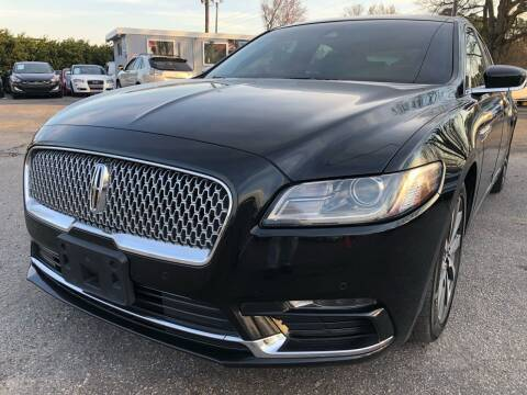 2017 Lincoln Continental for sale at Atlantic Auto Sales in Garner NC