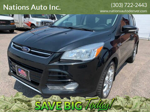 2014 Ford Escape for sale at Nations Auto Inc. in Denver CO