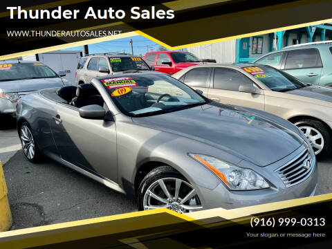 2009 Infiniti G37 Convertible for sale at Thunder Auto Sales in Sacramento CA