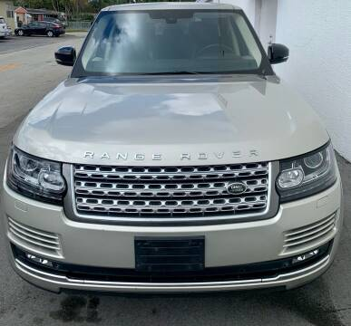 2014 Land Rover Range Rover for sale at Naber Auto Trading in Hollywood FL
