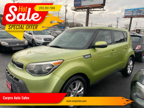 2014 Kia Soul for sale at Carpro Auto Sales in Chesapeake VA