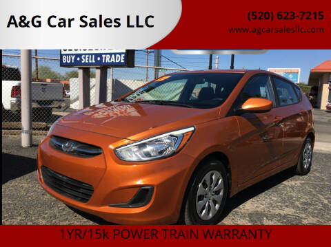 2017 Hyundai Accent for sale at A&G Car Sales  LLC in Tucson AZ