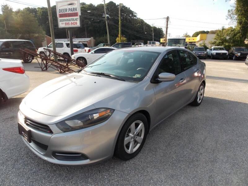 2015 Dodge Dart for sale at Deer Park Auto Sales Corp in Newport News VA