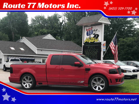 2007 Ford F-150 for sale at Route 77 Motors Inc. in Weare NH