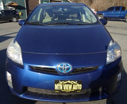 2011 Toyota Prius for sale at MOUNTAIN VIEW AUTO in Lyndonville VT