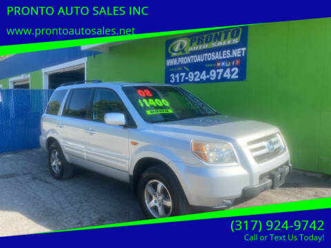 2008 Honda Pilot for sale at PRONTO AUTO SALES INC in Indianapolis IN