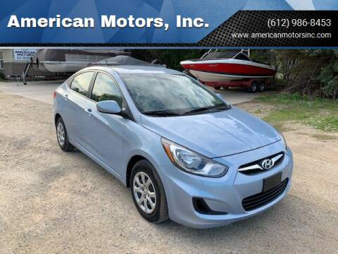 2013 Hyundai Accent for sale at American Motors, Inc. in Farmington MN