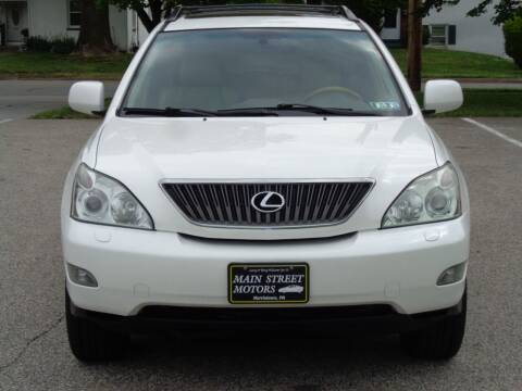 2007 Lexus RX 350 for sale at MAIN STREET MOTORS in Norristown PA