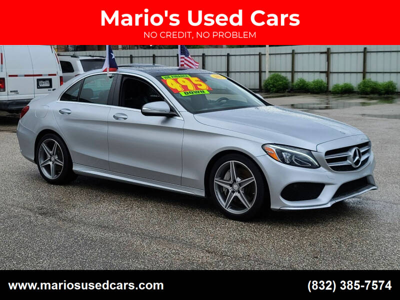 2015 Mercedes-Benz C-Class for sale at Mario's Used Cars - Pasadena Location in Pasadena TX