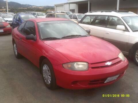 2003 Chevrolet Cavalier for sale at Mendocino Auto Auction in Ukiah CA