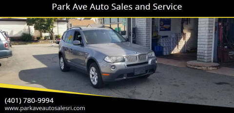 2009 BMW X3 for sale at Park Ave Auto Sales and Service in Cranston RI