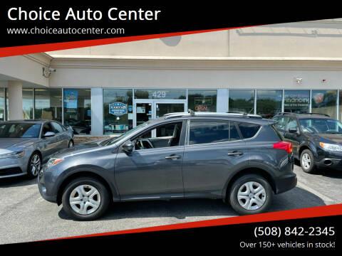 2013 Toyota RAV4 for sale at Choice Auto Center in Shrewsbury MA