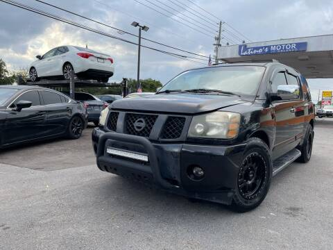2005 Nissan Armada for sale at LATINOS MOTOR OF ORLANDO in Orlando FL