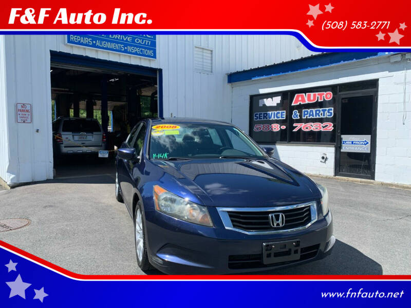 2008 Honda Accord for sale at F&F Auto Inc. in West Bridgewater MA