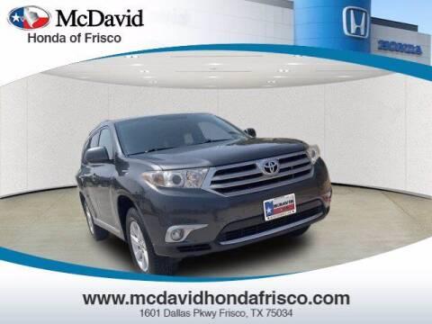 2012 Toyota Highlander for sale at DAVID McDAVID HONDA OF IRVING in Irving TX