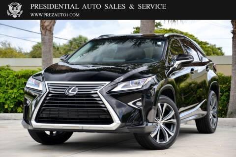 2017 Lexus RX 350 for sale at Presidential Auto  Sales & Service in Delray Beach FL