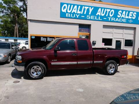 2000 Chevrolet Silverado 1500 for sale at QUALITY AUTO SALES OF FLORIDA in New Port Richey FL