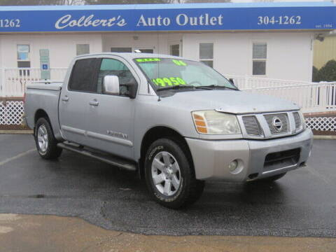 2006 Nissan Titan for sale at Colbert's Auto Outlet in Hickory NC
