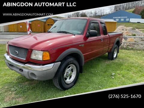 2001 Ford Ranger for sale at ABINGDON AUTOMART LLC in Abingdon VA