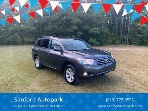2010 Toyota Highlander for sale at Sanford Autopark in Sanford NC