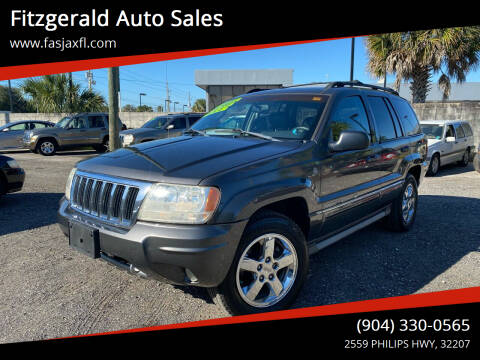 2004 Jeep Grand Cherokee for sale at Fitzgerald Auto Sales in Jacksonville FL