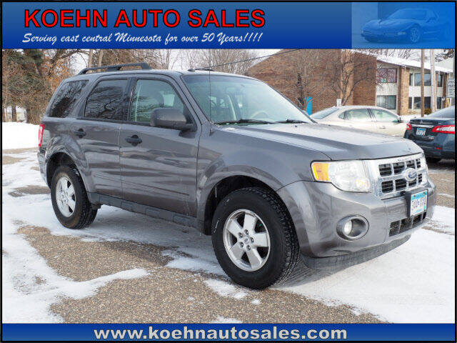 2011 Ford Escape for sale at Koehn Auto Sales in Lindstrom MN